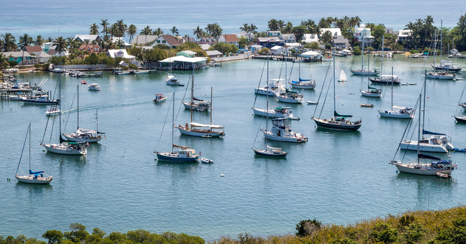 Elbow Cay Bahamas with views of colonial Hope Town from the Hope Town lighthouse. Copyright Bahamas Ministry of Tourism