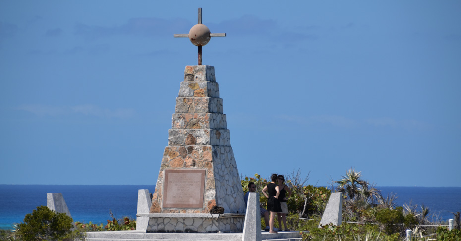 Long island bahamas columbus monument at the north end of Long Island. Take a 3 night cruises to Bahamas or a private bahamas air charter to the Bahamas Islands with Bahamas Air Tours.