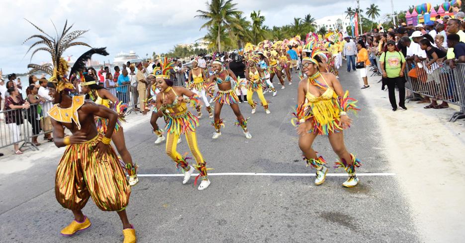 Junkanoo Bahamas Carnival at the Junkanoo Festival in Nassau on New Providence island in the Bahamas.