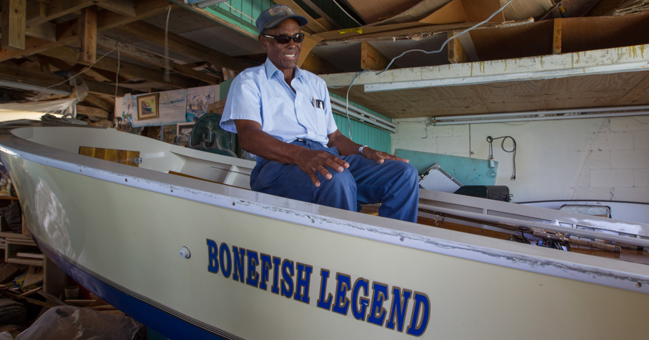 Ansil Saunders Bimini bone fishing legend. Take a bimini cruise from florida to Bimini or fly on bahamas charter flights on a bahamas island hopping tour.