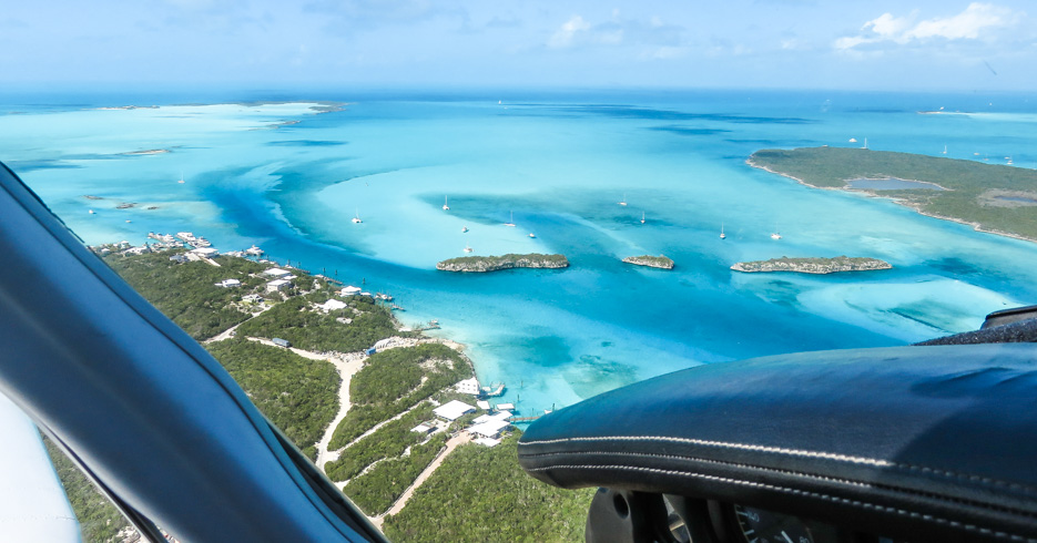 Day trip to Bahamas from Miami Florida. Bahamas Charter flights from Miami to Bahamas with Bahamas Air Tours and visit the exuma pigs at Staniel Cay on the worlds first one day cruise to bahamas from Miami