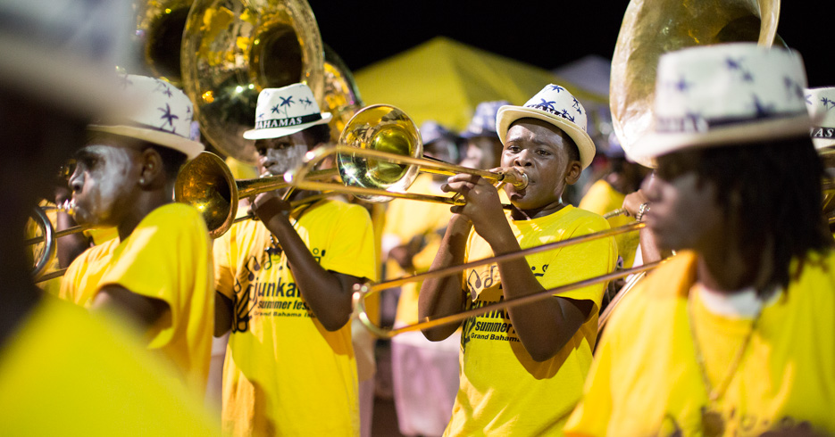 Junkanoo Bahamas Carnival music band on Junkanoo Parade. Discover the unique Junkanoo Festival Bahamas in Nassau, Grand Bahama and the Out Islands.