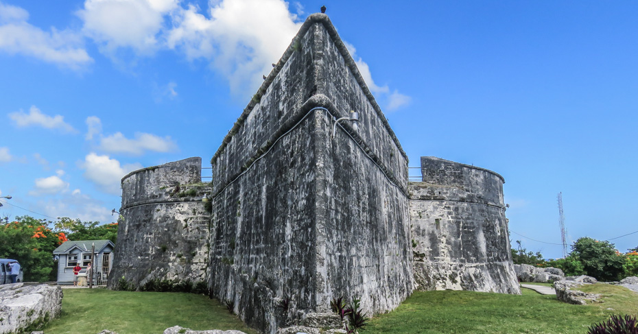 Things to do in Nassau Cruise Port: Fort Fincastle in Nassau Old Town. Fort Fincastle at the top of the Queens Staircase. Discover on a Nassau self guided walking tour. One of the many things to do in Nassau Bahamas for free.