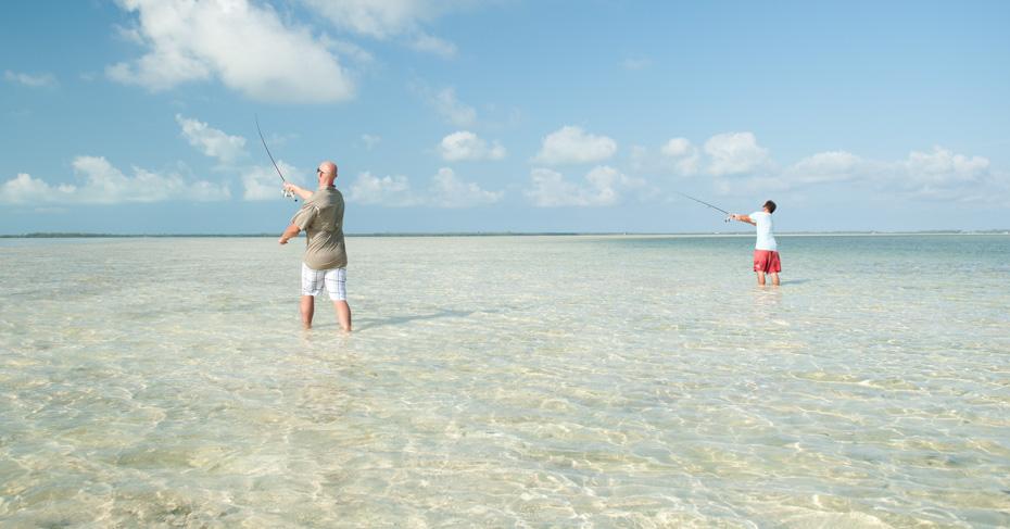 Bahamas Fishing Charters Bonefishing on a private Bahamas fishing charters and island hopping tours from Bahamas Air Tours