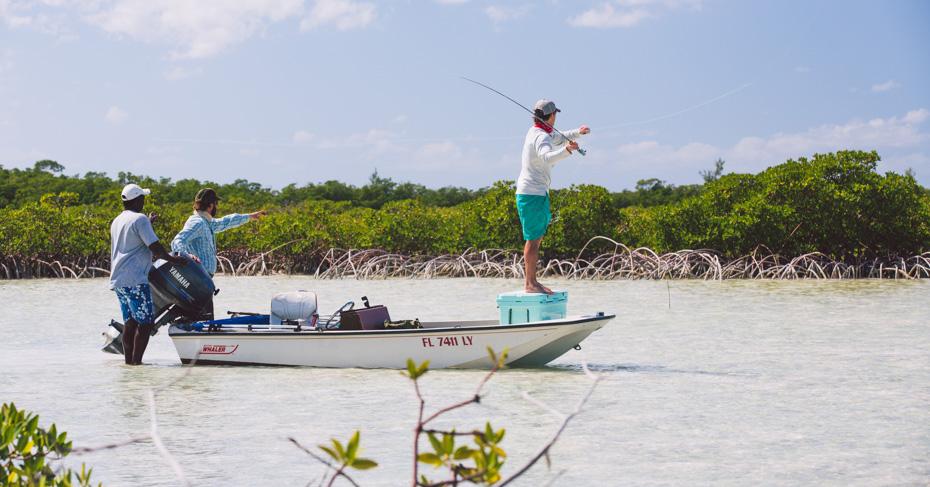 Bahamas Fishing in the Bahamas Out Islands. Bahamas bonefishing on a Bahamas fishing charters with Bahamas Air Tours