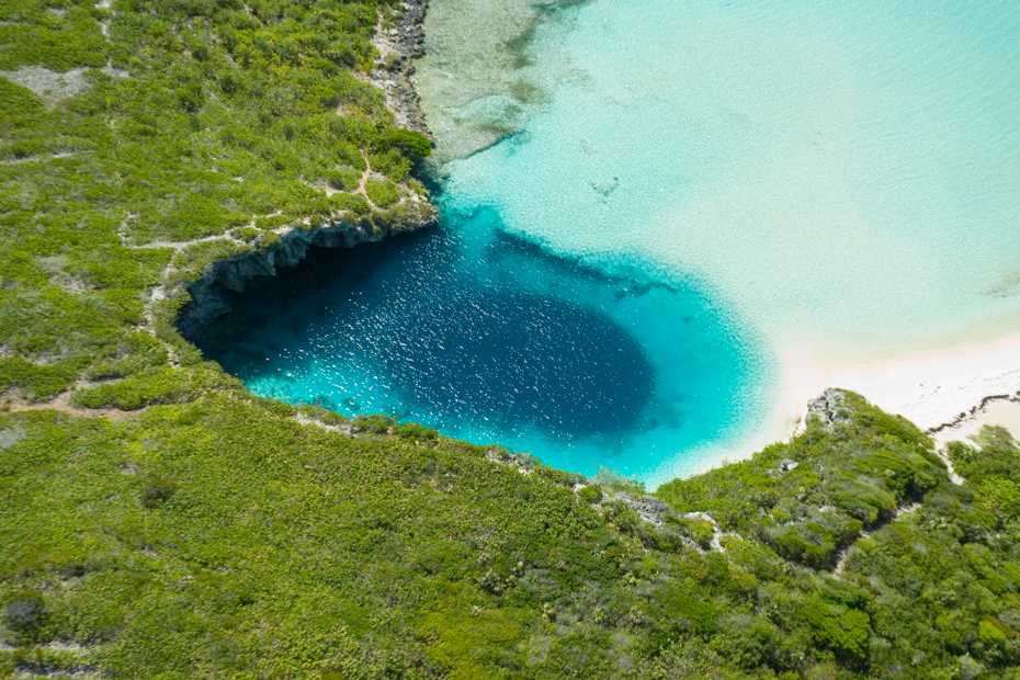 Deans Blue Hole Long Island Bahamas, some of the best diving in the Caribbean. Discover Long Island Bahamas on a Bahamas Air Tours Island Hopping adventure with flights from Florida to Bahamas.