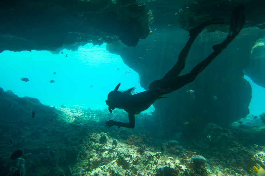 Thunderball Grotto Bahamas Tour, things to do in Exuma at Staniel Cay on a Bahamas day trip by plane with Bahamas Air Tours.