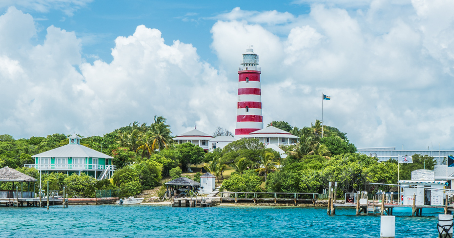 Hope Town Light house on elbow cay bahamas. Flights from Florida to Marsh Harbour and Elbow Cay