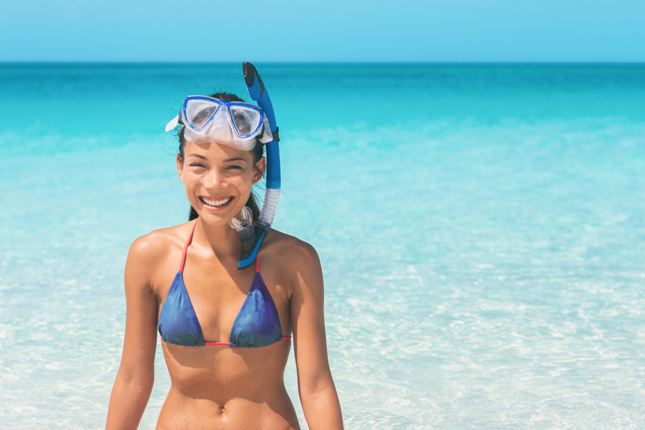 Snorkel swim beach summer holidays girl swimming in Caribbean idyllic paradise ocean water banner panorama. Smiling Asian woman having fun. Watersport lifestyle. Have you ever dreamed of Atlantis Bahamas Excursions in Atlantis Bahamas of Paradise Island Bahamas? These Atlantis excursions are sure to have you excited for your Bahamas vacation. Bahamas Air Tours gives you your guide to Day Trips to Bahamas by flights to Bahamas aboard Bahamas Air Charters to Swimming Pigs tours and the Exuma pigs on Pig Island at Pig Beach. Join one of our Staniel Cay Day trips on our Nassau to Staniel Cay day tour or opt for the Staniel Cay Day trips by the way of Bahamas Day Trips by plane. Trips to Bahamas to see pigs in Bahamas. Miami to Bahamas day trip is one of the top Florida attractions.