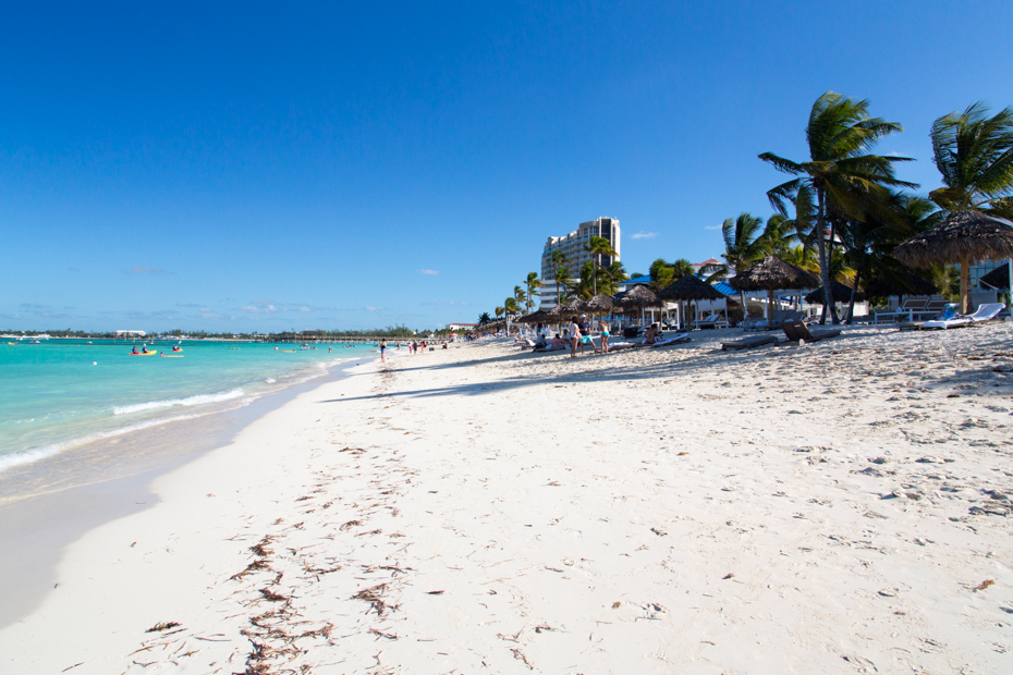 Bahamas, the golden sands of Cable Beach. Check out all of the things to do in Nassau including some of the