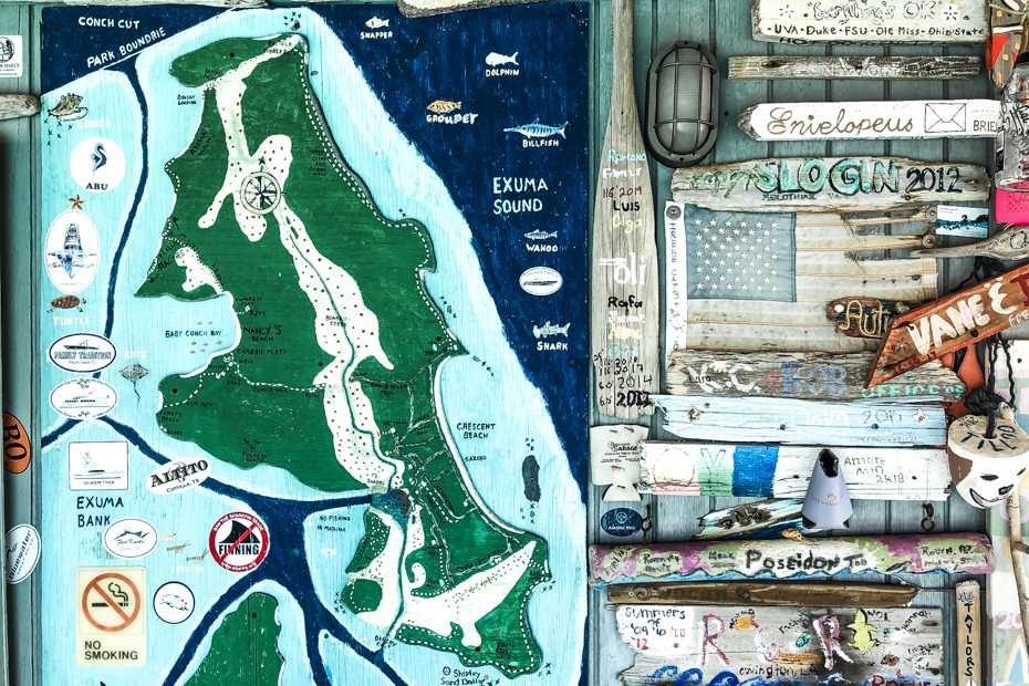 Map of Compass Cay in the Bahamas Exumas. Compass Cay Swim with Sharks experience is the top things to do in Bahamas and the number one rated Bahamas Day Trip excursion from Nassau