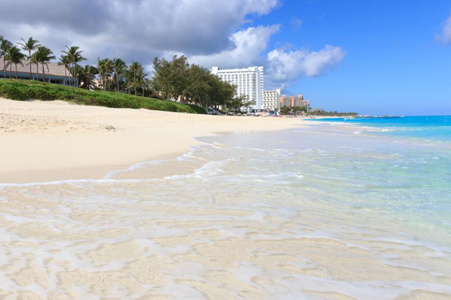 Paradise Island Bahamas Cabbage Beach is the best beach on Paradise Island Nassau.