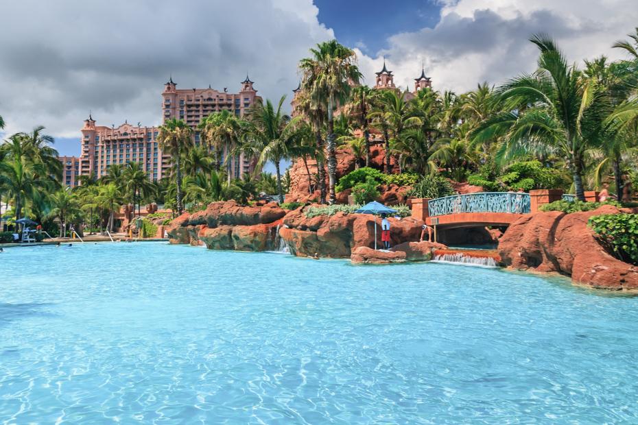 Paradise Island Bahamas Aquaventure waterpark at the Atlantis Resort.