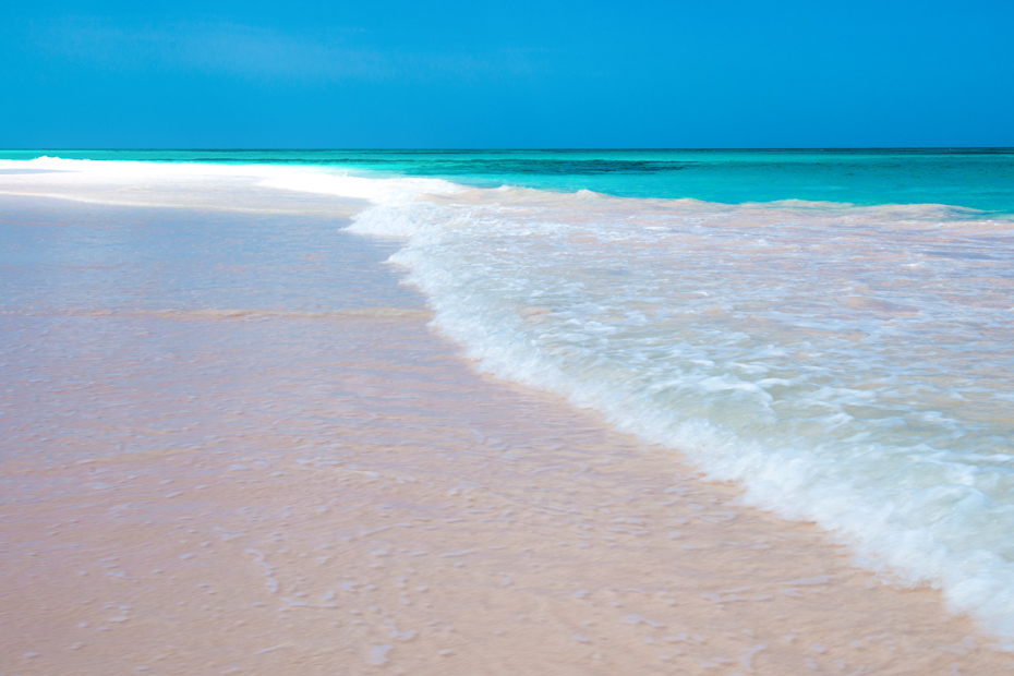 Pink Sands Beach Bahamas on Harbour Island, Eleuthera Bahamas. Day Trips to Bahamas by Plane with Bahamas Air Tours