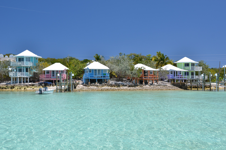 Staniel Cay Yacht Club in the Exumas. Visit Staniel Cay on a Bahamas Day Trip by Plane.