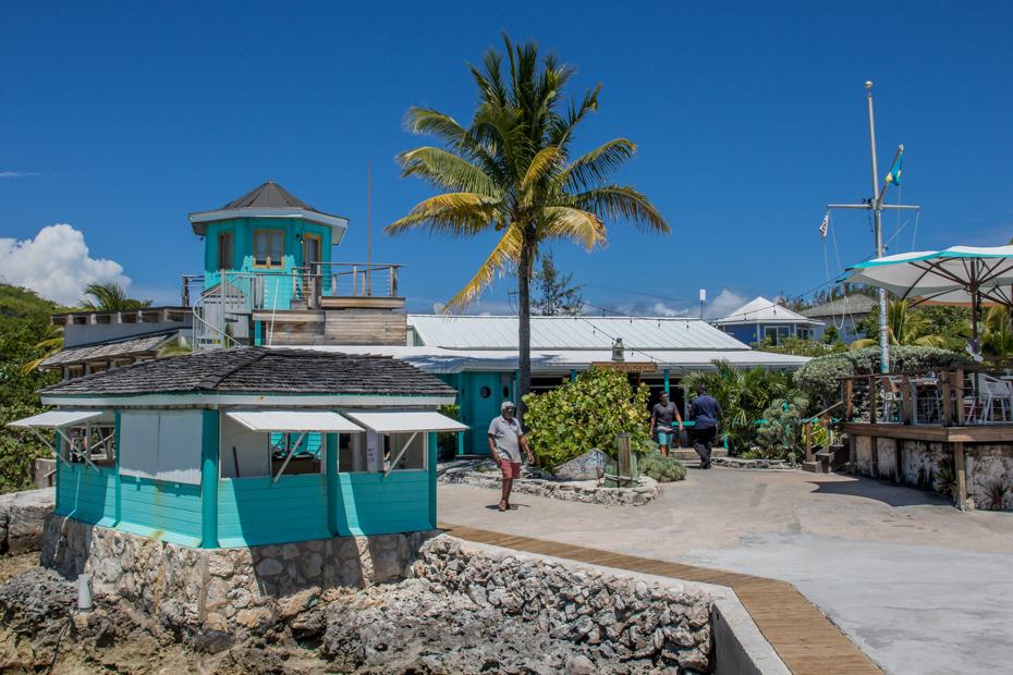 The Staniel Cay Yacht Club in the Exumas Bahamas has a full service dock and Marina