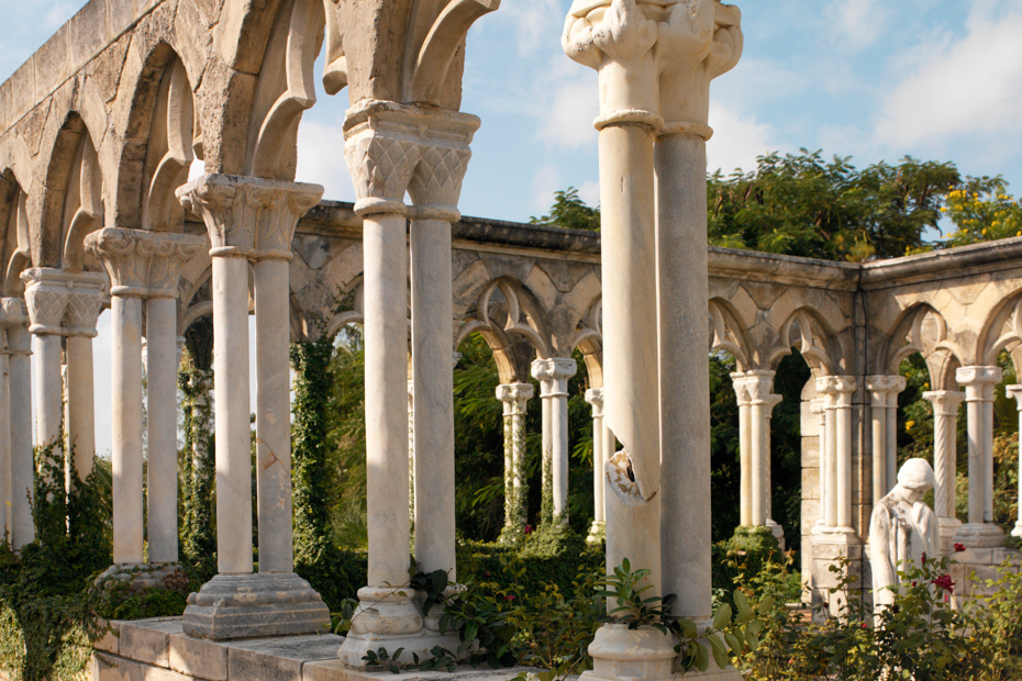 Ruins of the Cloisters on Atlantis Paradise Island in the Bahamas. See this plus take a day trip to Bahamas to see pigs in Bahamas. Miami to Bahamas day trip is one of the top Florida attractions.