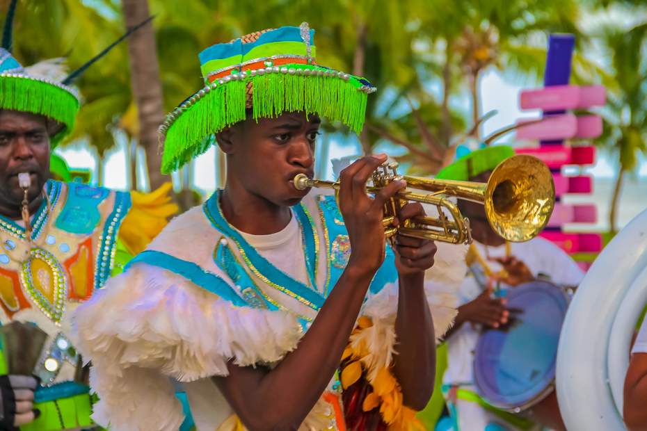 Bahamas music uses traditional Bahamian instruments such as the trumpet. Rake and scrape music is as old as the country is.
