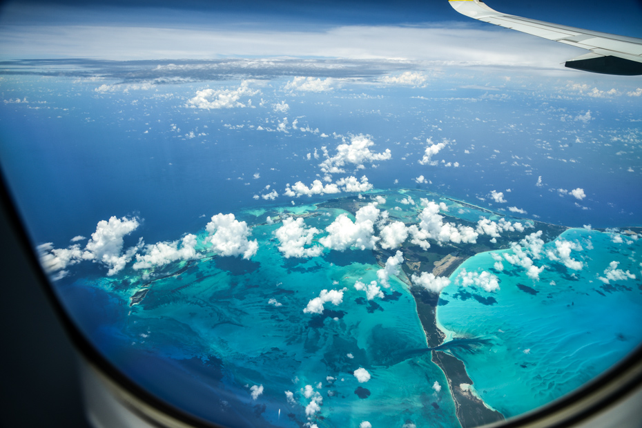 Flights to Exuma Bahamas with Bahamas Air Tours offers the biggest viewing windows of any tour company in the world. Direct flights to Exuma make day trip to Bahamas possible.