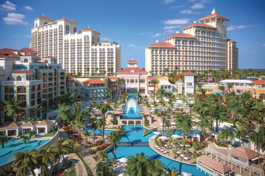 The Baha Mar Resort in the Bahamas. Nassau Bahamas hotels like this one are famous.