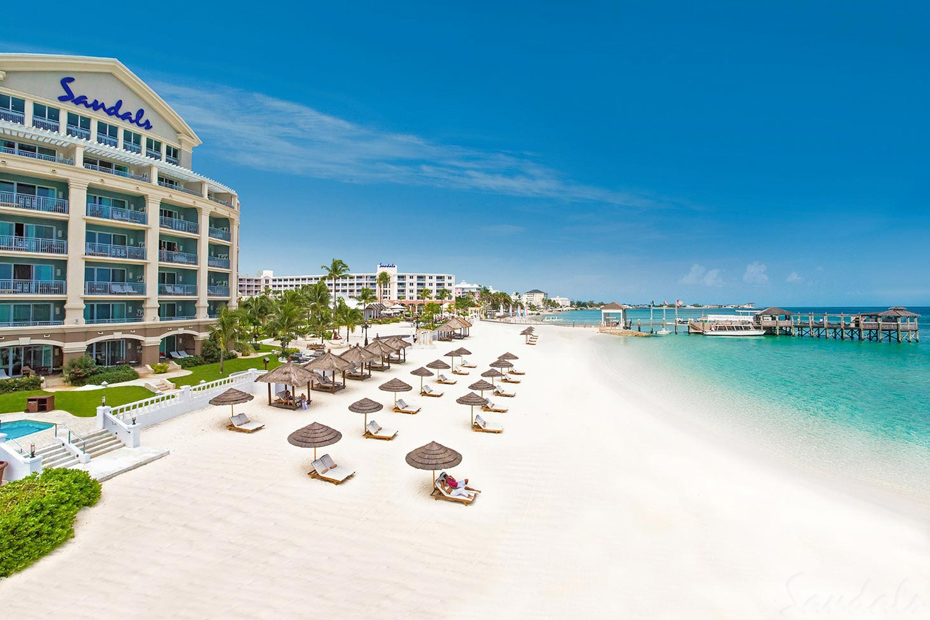 Sandals Resort in the Bahamas. Some Nassau Bahamas resorts such as the all inclusive resorts like Sandals are very popular.