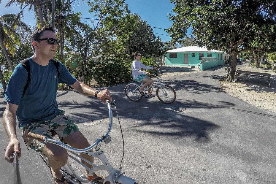 Cycling is a great way to explore the small lanes of Staniel Cay Bahamas