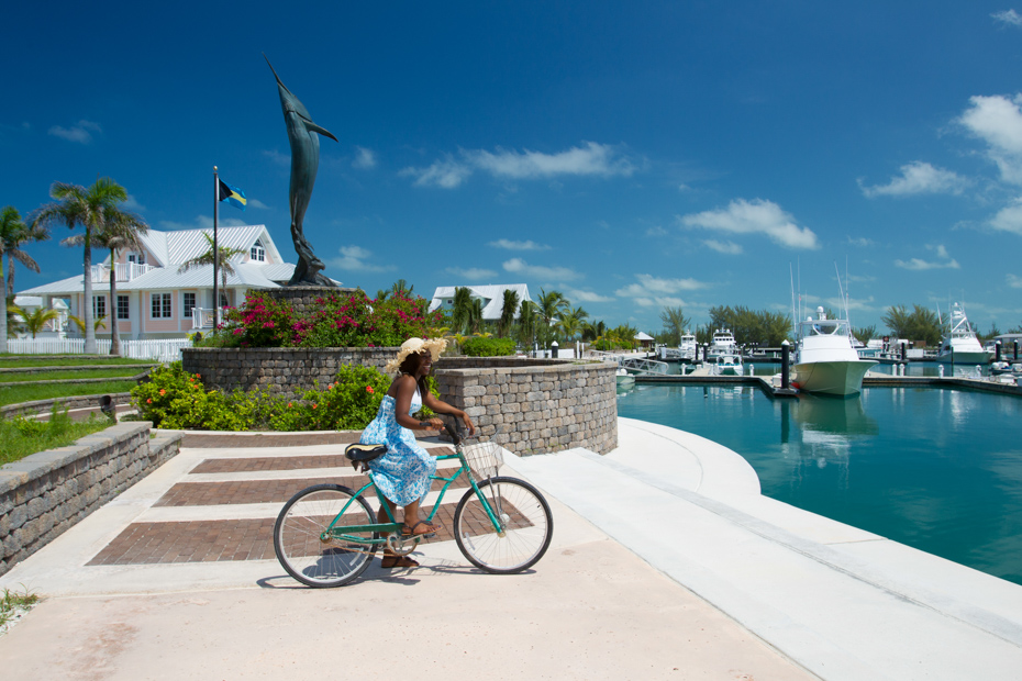 Enjoy a bike ride through Chub Cay Bahamas on your Bahamas vacation. On a Miami to Bahamas day trip with Bahamas Air Tours today.