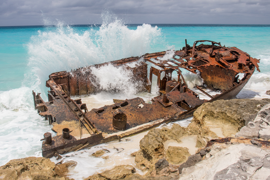 The famous Bimini shipwreck is a popular attraction on the Bimini beaches. Check out Resorts World Bimini on your Bimini day cruise with Bahamas Air Tours.