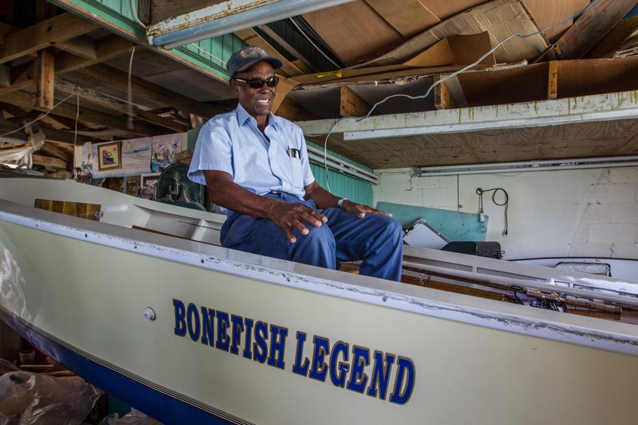 Ansil Saunders, Bimini Bahamas bone fishing legend. Take a bimini cruise from florida to Bimini or fly on bahamas air charter flights on a bahamas island hopping tour and witness all the things to do in Bimini.