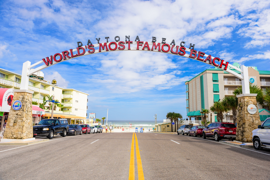 """Daytona Beach Florida, the """"World's Most Famous Beach"""". There are plenty of things to do in Daytona Beach. Come with Bahamas Air Tours on a Trip to Bahamas to see pigs in Bahamas."""