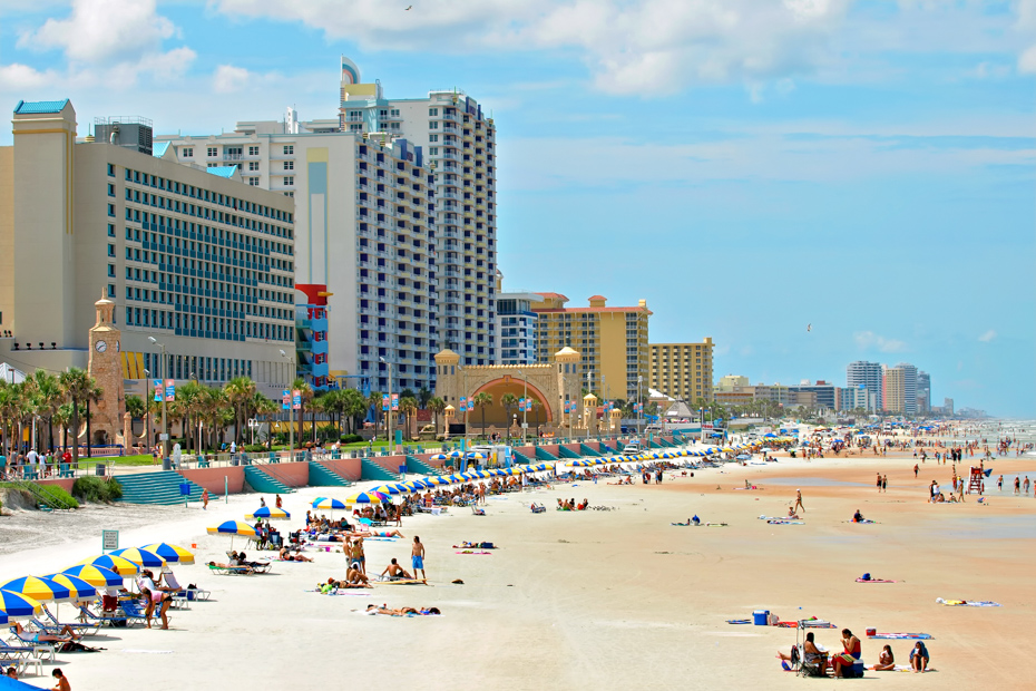 Daytona Beach Florida during a hot summer day. Bahamas Air Tours gives you your guide to Day Trips to Bahamas.