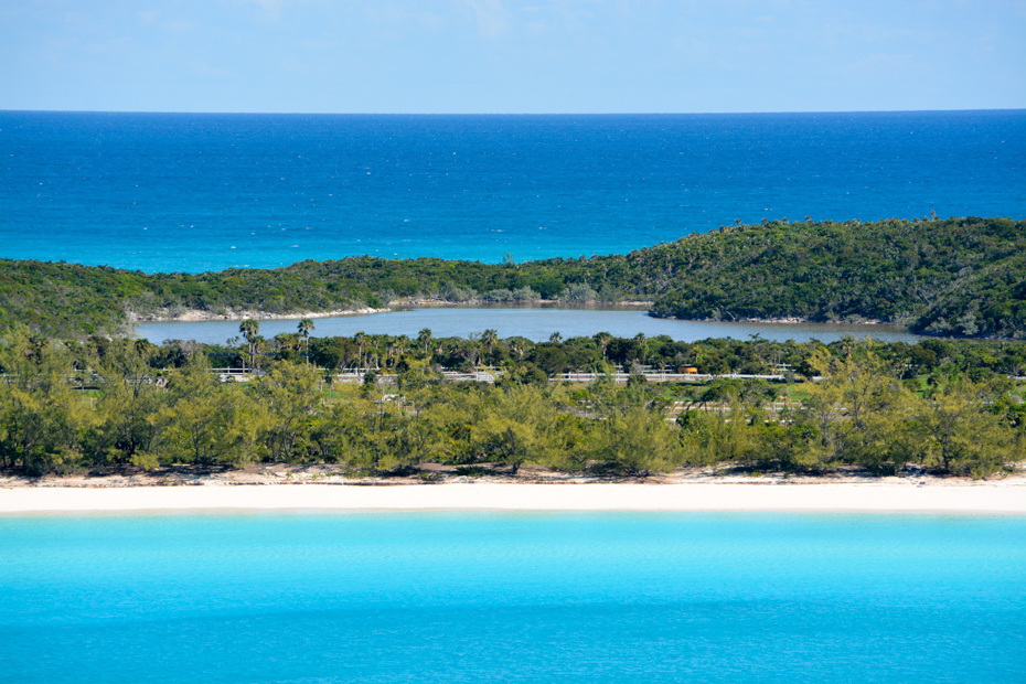 The beaches on this Carnival private island are romantic and remote. Take the Carnival Cruise private island Half Moon Cay excursions. Join flights to Bahamas aboard Bahamas Air Charters to Swimming Pigs tours.