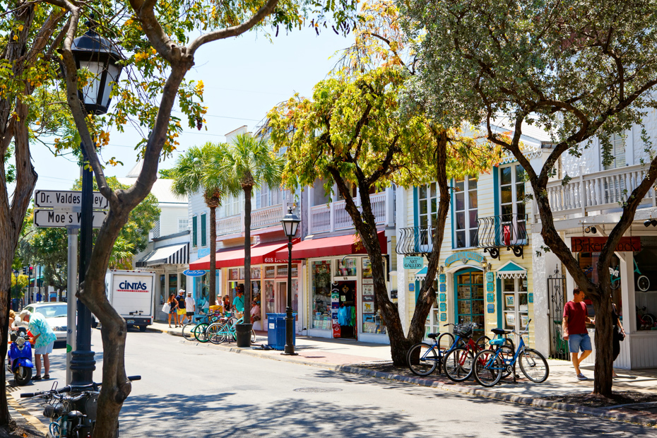 The popular center of Key West; Duval Street. Things to do in Key West Florieda include many Key West activities on Duval Street.