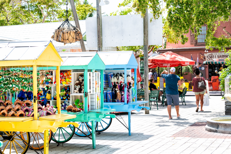 Mallory Square, Key West. Duval Street has many things to do in Key West activities.
