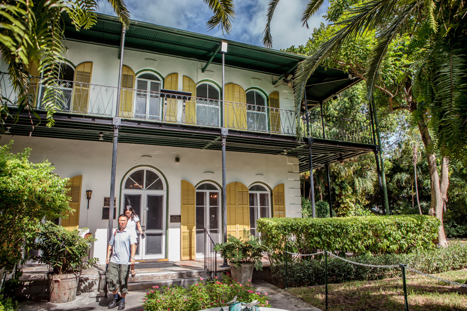 The Hemingway House is one of the most popular Key West attractions. What to do in Key West Florida with many Key West activities like the house Ernest Hemingway stayed in.