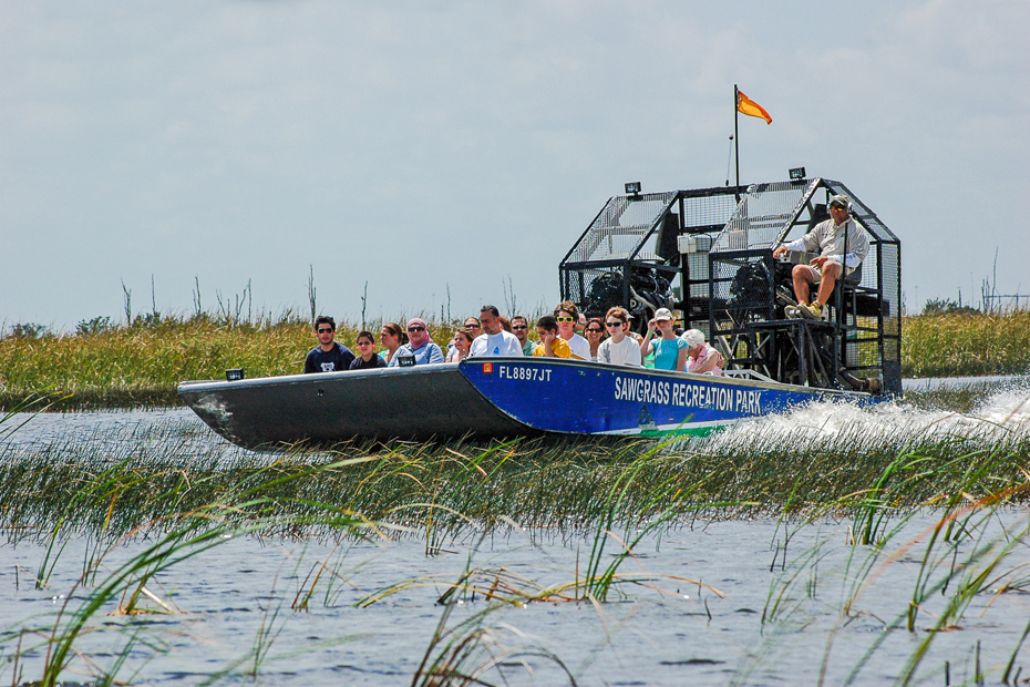 Take a ride in an airboat through the Everglades. Your Miami excursions for your Florida vacation are waiting.