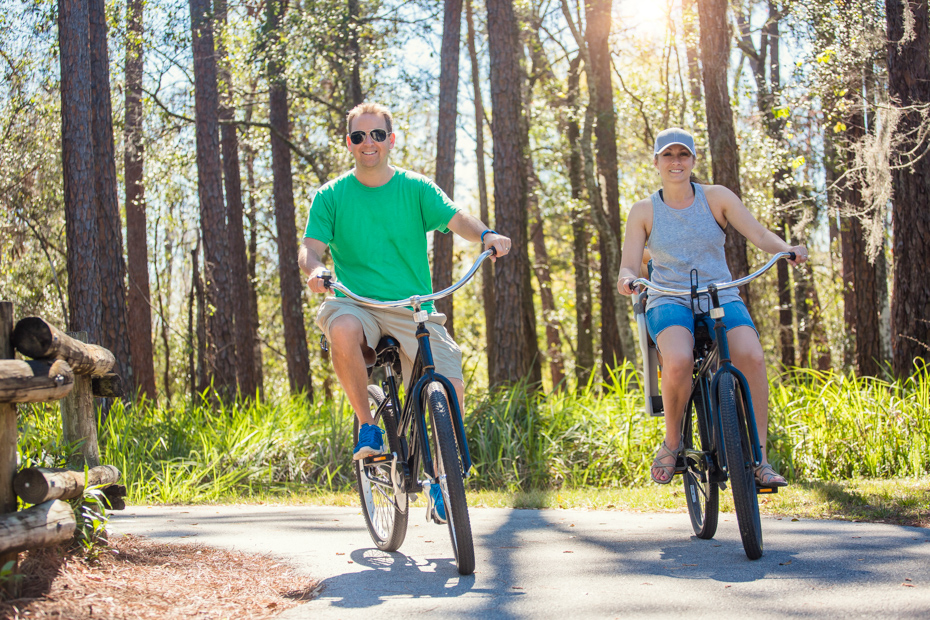 Why not take a couples bike ride through town? It is one of the things for couples to do in Orlando Florida vacation.