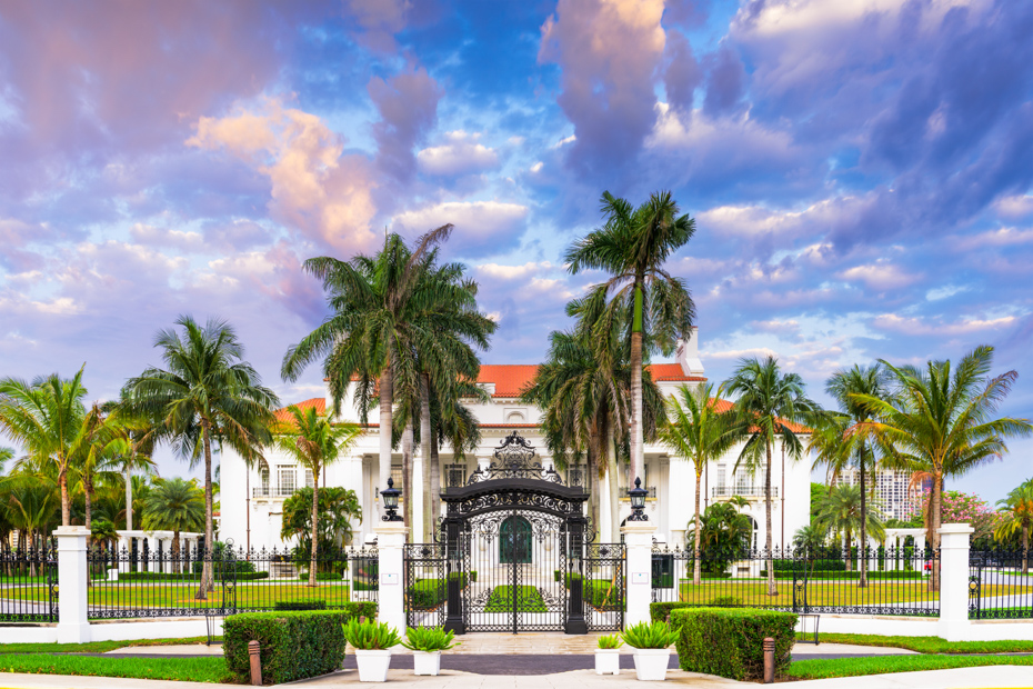 The Flagler Museum at West Palm Beach. One of the best things to do in Miami Florida and a fun Florida attraction for whole family.