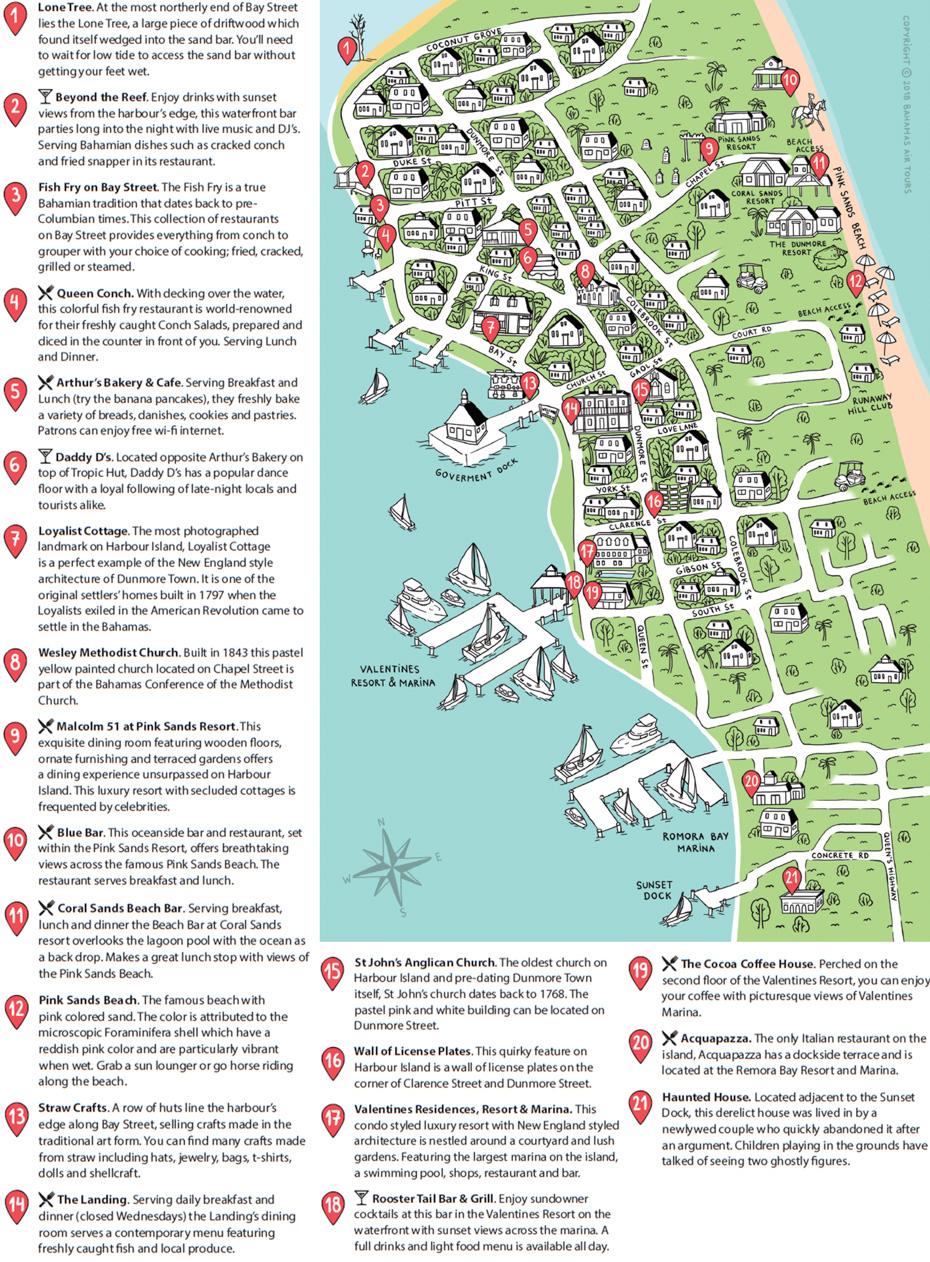 Harbour Island Map Bahamas