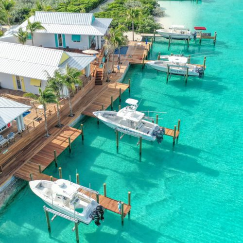 For the most luxurious Staniel Cay Accommodation, stay at the Staniel Cay Villas on the waters edge of Staniel Cay Lagoon.