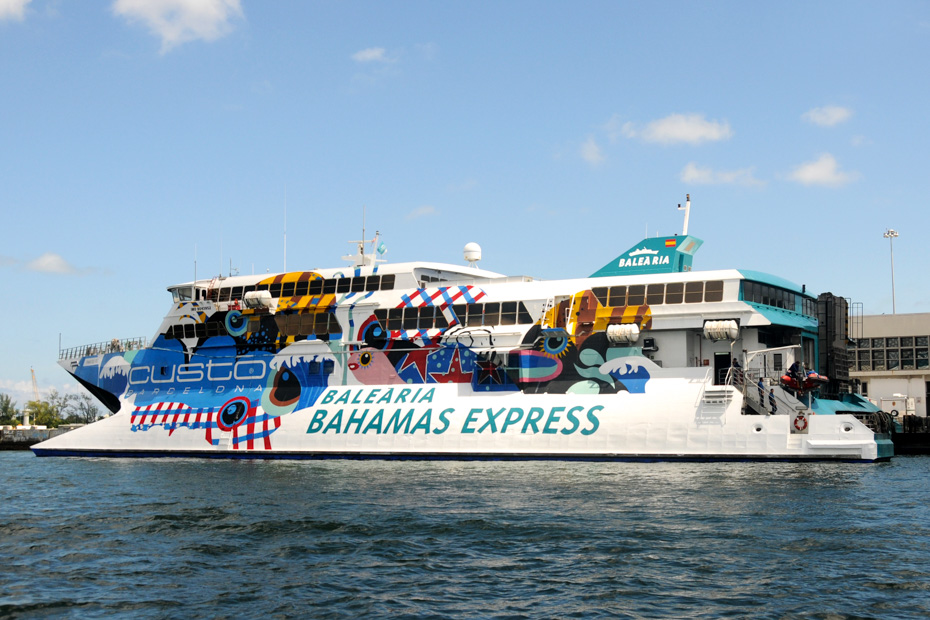 boat from miami to bahamas ferry is the Bahamas Express Ferry operated from Fort Lauderdale port to Freeport Grand Bahama island. Visit the official swimming pigs in Exuma instead of taking the ferry miami bahamas.
