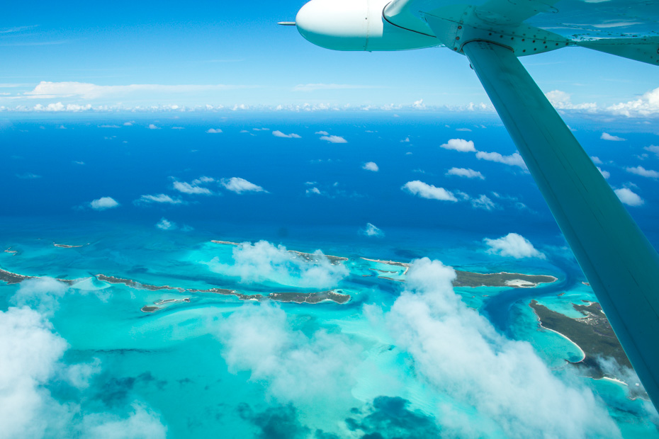 Maimi to Bahamas Day Trip by plane to Exuma with Bahamas Air Tours. Enjoy stunning views of the Exuma Cays from window seats and beat the boat from miami to bahmas or the miami to bahamas ferry.