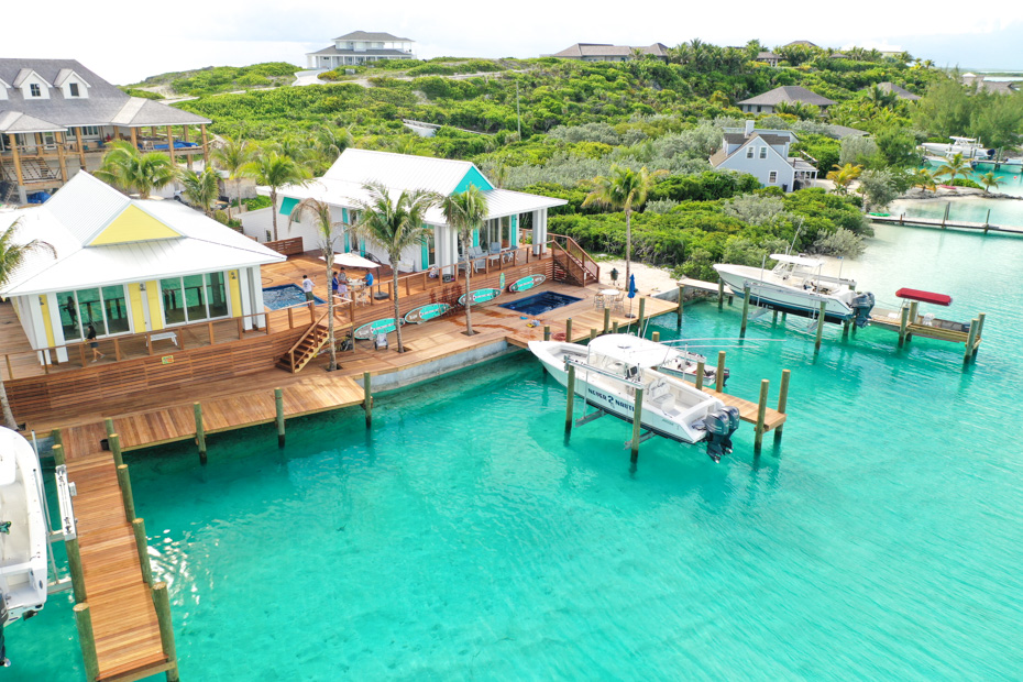 Places to Stay in Exuma Staniel Cay - the Staniel Cay Water Villas at Lazy Bay. Enjoy a Bahamas Vacation at the Water Villas Staniel Cay in Exuma Cays. One of the best Staniel Cay Resorts and Staniel Cay accommodation, without doubt the best place to stay in bahamas