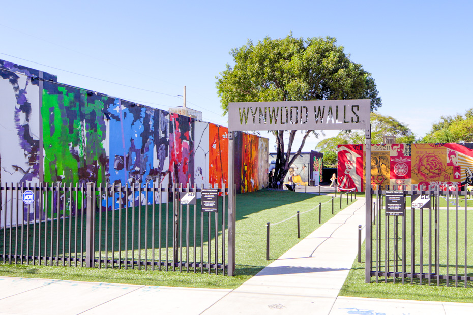 Things to do in Miami at the Art Murals at Wynwood Walls in Miami, Florida. Wynwood is a neighborhood in Miami Florida which has a strong art culture presence and murals can be seen everywhere. Wynwood walls is one of the top 10 things to do in Miami.
