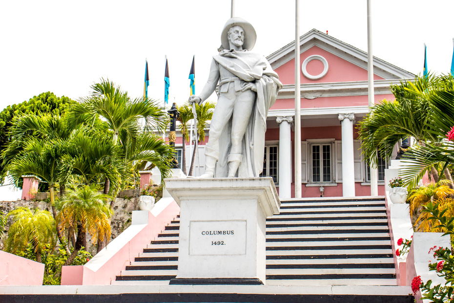Things to do in nassau bahamas port and Nassau Old Town. Visit Government House with the Christopher Columbus Statue in the grounds. There are many cultural walking tours to take around Nassau Bahamas when looking at things to do in nassau cruise port.