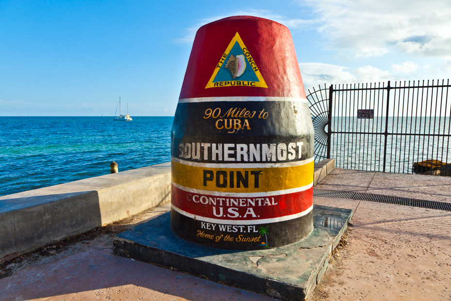 Southernmost Point in Key West, one of many top things to do in South Florida. Take a road trip from Miami to Key West, through the Florida Keys and Everglades, to the Southernmost Point Market Key West. Looking for What to do in Miami? Then looks at the best Miami Day Trips and Tours