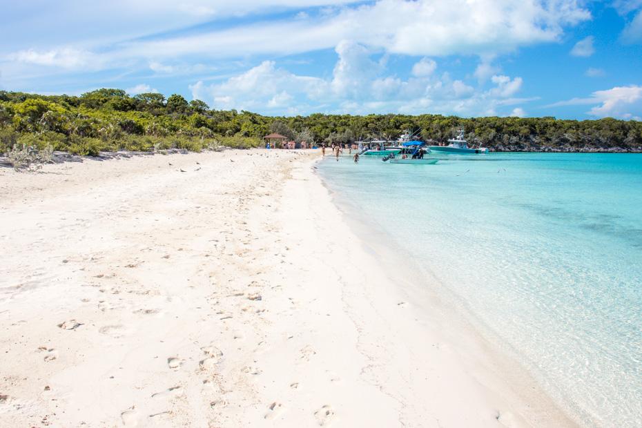 Pig Beach Nassau to Big Major Cay Exuma, is the tour to take to visit the famous Bahamas Swimming Pigs in Exuma. Where is Pig Beach Bahamas? in the Exuma Cays of the Bahamas.