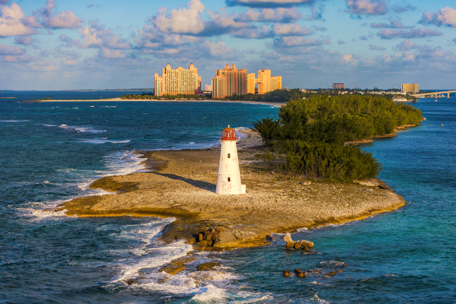 Find the best best excursions in nassau and the best exuma tours from Nassau. Lighthouse on Paradise island, Bahamas,