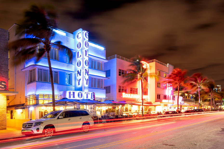 Best things to do in south beach miami Florida - enjoy a stroll down Ocean Drive; Miami Beach iconic art deco district, centrally located with many of the top things to do in Miami Beach, like South beach and Lumnus Park.