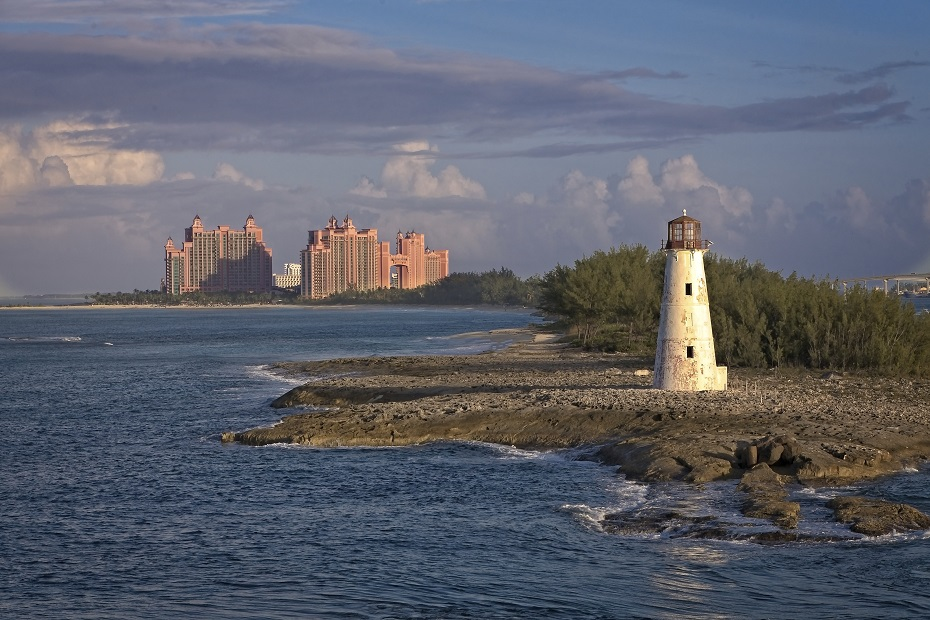 The abandoned lighthouse in Nassau Bahamas. Among other things to do in Nassau cruise port, this is a great one!